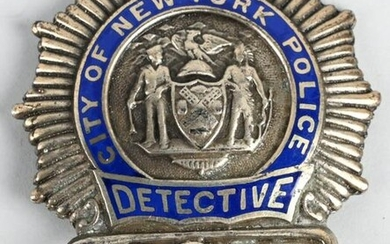CITY OF NEW YORK POLICE DETECTIVE BADGE #2