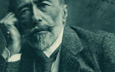 CONRAD JOSEPH: (1857-1924) Polish-British Writer. Signed 3.5 x 5 card photograph `Joseph Conrad´, the image depicting Conrad in a head and shoulders attractive pose. Signed in bold black ink to the upper right corner, also dated 1916 in his hand. Very...