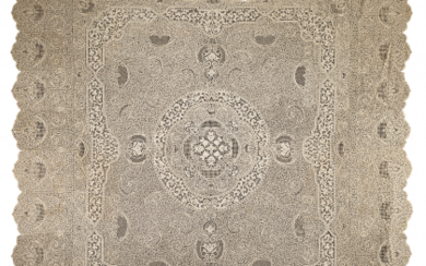 Cantù lace tablecloth, 20th century. (cm 300x236) (stains and...