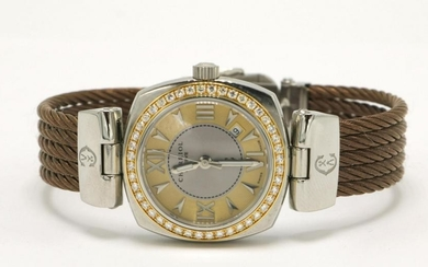 Charriol Diamond Brown Cable Steel Watch