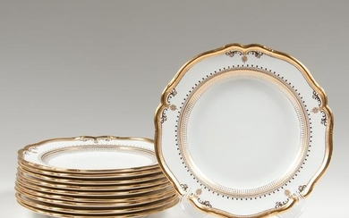 Copeland Gilt Dinner Plates for Gilman & Collamore