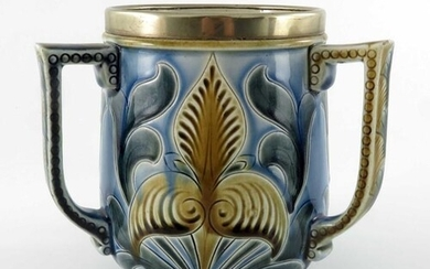 Emily Stormer for Doulton Lambeth, a stoneware three handle...
