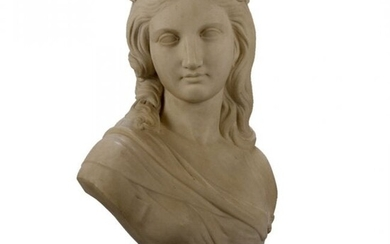 English Classical Marble Sculpture Signed R. Physick