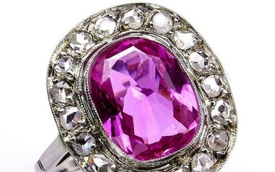 "GIA Natural ""NO HEAT"" 3.68ct Hot Vivid Pink Sapphire"