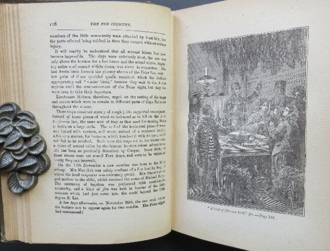 Jules Verne, The Fur Country; 70 woodcut plates 1880s