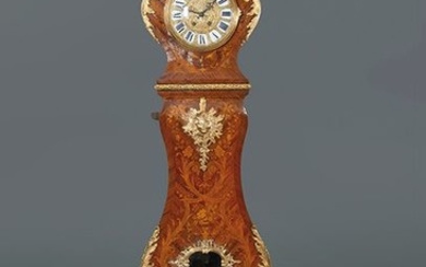 Large Louis XV style antechamber clock in carved...