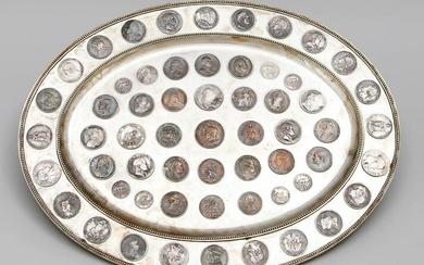 Large oval coin tray, ear