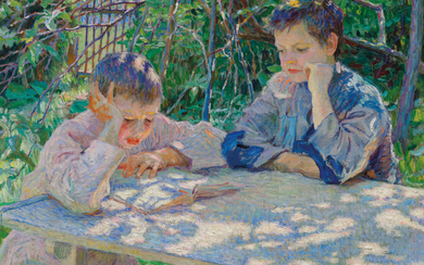 Nikolai Bogdanov-Belsky (1868-1945), The reading lesson
