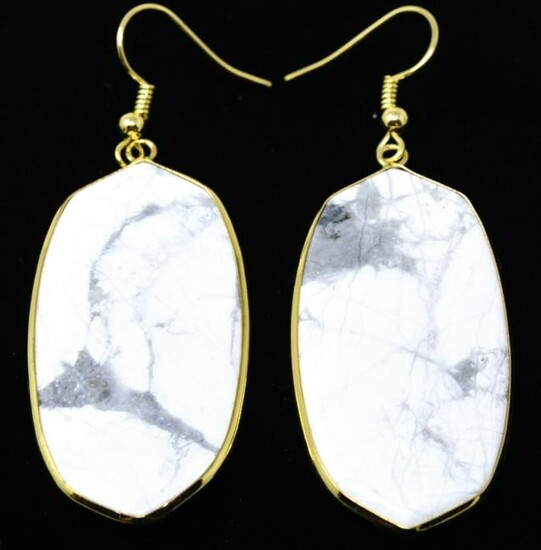 Pair of Contemporary Pendant Earrings