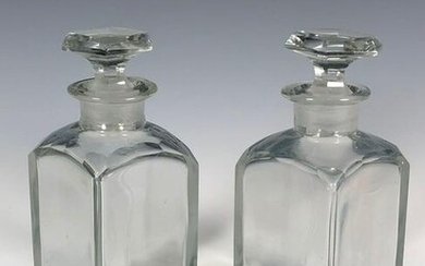 Pair of Early Decanters With Stoppers