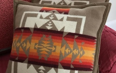 Pair of Navajo Native American Style Throw Pillows