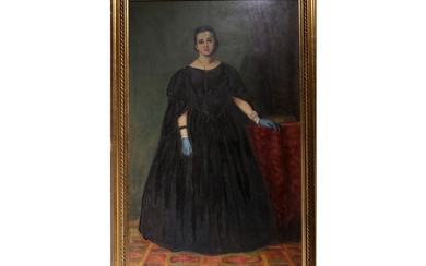 Portrait of a woman with black dress