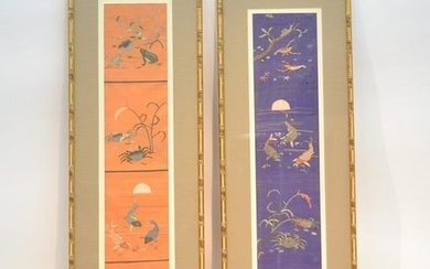 (Pr) ASIAN EMBROIDERY WALL HANGINGS