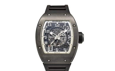 RICHARD MILLE | RM010 A LIMITED EDITION DLC-COATED TITANIUM SEMI-SKELETONISED WRISTWATCH WITH DATE, MADE FOR THE PARIS BOUTIQUE, CIRCA 2010