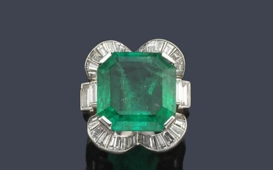 Ring with important Colombian emerald