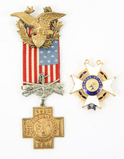 SONS OF THE AMERICAN REVOLUTION MEDAL LOT OF 2