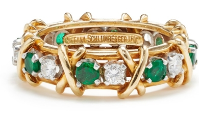 Schlumberger for Tiffany & Co., A Diamond, Emerald and Gold Ring