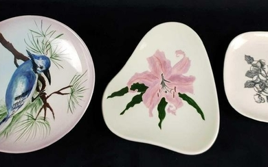 Set of 3 Hand Painted Vaisey Plates