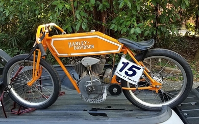 'Sons of Speed', 1915 Harley-Davidson Twin Model F Board Track Racing Motorcycle