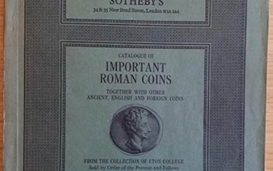 Sotheby's Catalogue of Important Roman Coins together with other Ancient,...