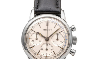 TISSOT, WATERPROOF CHRONOGRAPH, TWO-TONE DIAL