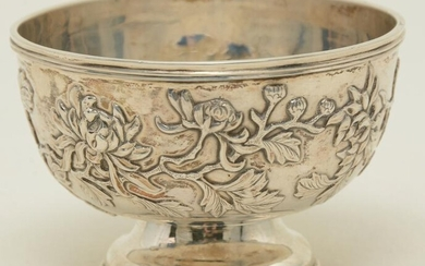 Tuck Chang Chinese export silver bowl, late 19th