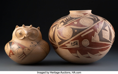 Two Mexican Pottery Vessels (20th century)