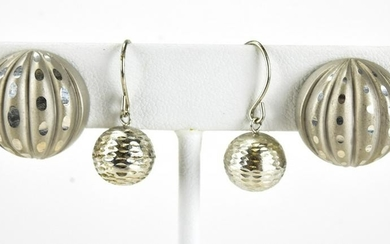 Two Pairs of Vintage Sterling Silver Earrings