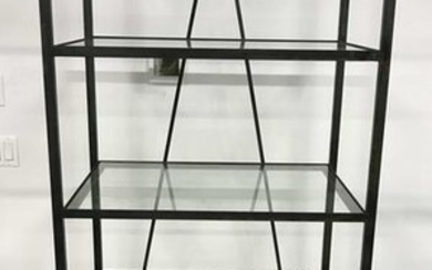 Vintage Glass Shelved Display Rack