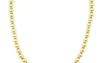10K Yellow Gold Beads Necklace
