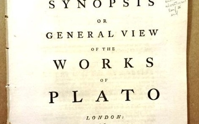 1759 Synopsis or View Works of Plato
