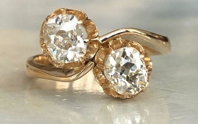 18 kt. Yellow gold Ring with 1.40 ct Diamonds