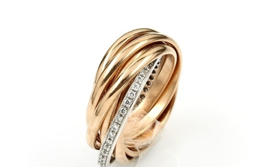 18 kt gold ring with diamonds ,...