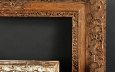 "18th Century Carved Frame, 12"" x 16.5"" - 30.5cm x 42cm."