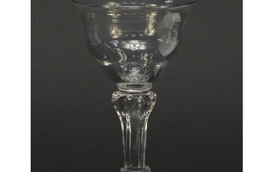 18th century glass sweetmeat dish with writhen stem, 16.5cm ...