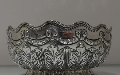 19th Century Antique Victorian Sterling Silver Rose