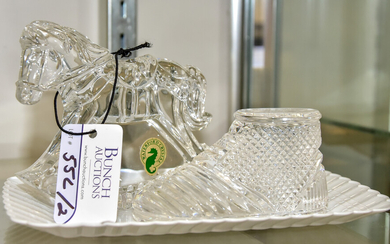 (2) Waterford Crystal Paperweights