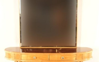2 PART ITALIAN ROSEWOOD SYCAMORE CONSOLE MIRROR