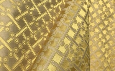 6 m x 130 cm Precious magnificent San Leucio double-sided damask fabric - Modern - silk cotton - 2018