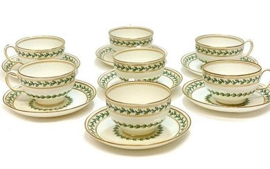 7 Minton England for Tiffany Porcelain Cup & Saucers