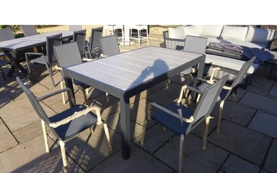 A Bramblecrest Seville dining table - 164cm x 95cm - with si...