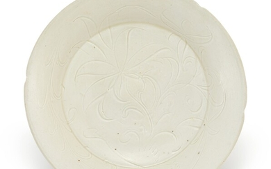 A CARVED DINGYAO 'LOTUS' DISH NORTHERN SONG DYNASTY
