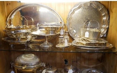 A COLLECTION OF EARLY 20TH CENTURY SILVER PLATED WARE Compri...