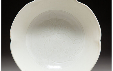 A Chinese Lobed Ding Ware Bowl