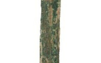 A Chinese bronze sword, jian, Warring States period, with tapered...