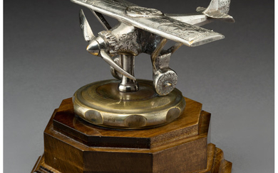 A French Silver-Plated Bronze Spirit of St. Louis Automobile Mascot (circa 1927)