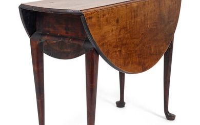 A Queen Anne Maple Drop-Leaf Table