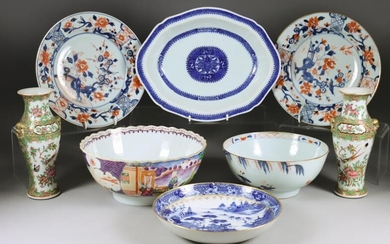 A Small Collection of Chinese Porcelain, 18th/19th Century, including...