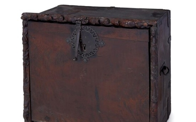 A Spanish Baroque iron-mounted walnut vargueño Late 17th/early 18th...