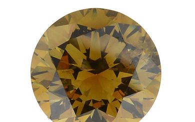 A brilliant-cut natural 'fancy vivid yellowish-orange' diamond, weighing 0.50ct, with report.
